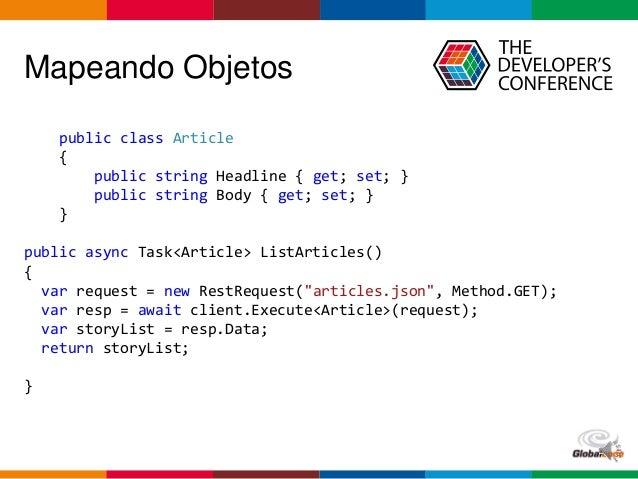 Globalcode – Open4education Mapeando Objetos public class Article { public string Headline { get; set; } public string Bod...