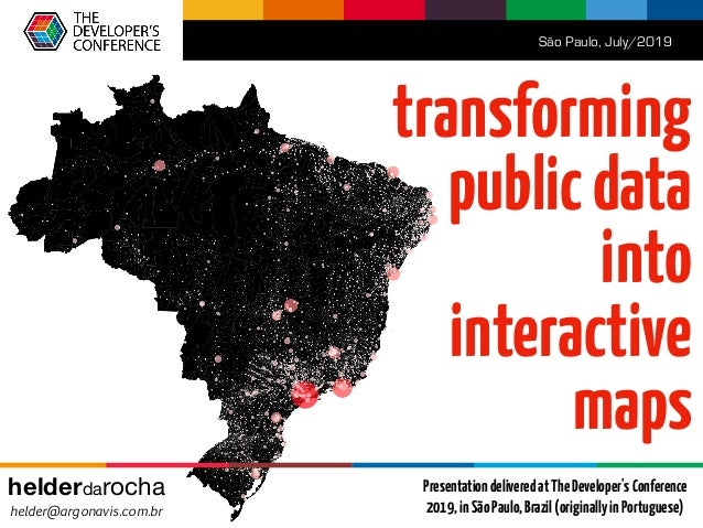 Transforming public data into thematic maps (TDC2019