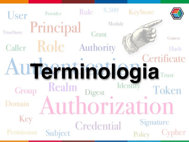 Identity Principal Subject Credential User Caller Group Role Realm Domain Digest Cypher Key Token Certificate Authority Si...