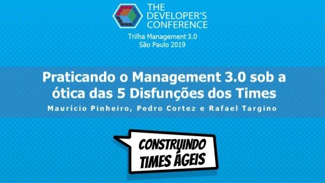 Trilha Management 3.0 São Paulo 2019