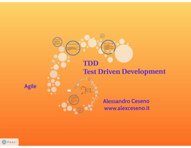 TDD - Test Driven Development - Come scrivere un software migliore