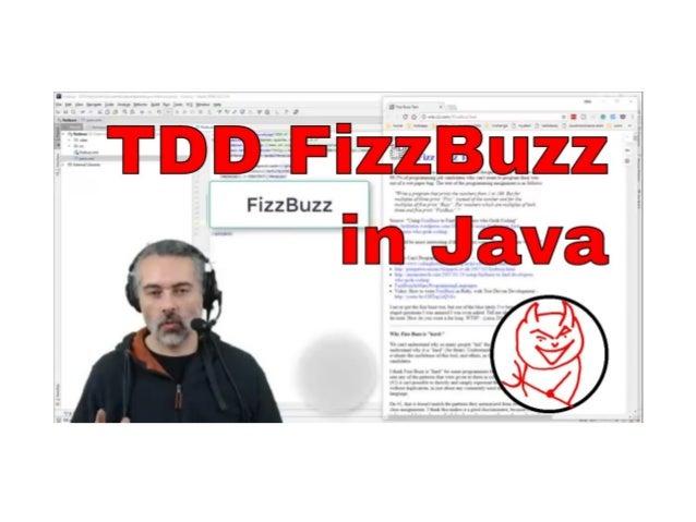 TDD ‐ Test Driven Development ‐ Java JUnit FizzBuzz Alan Richardson www.eviltester.com/agile www.compendiumdev.co.uk @evil...