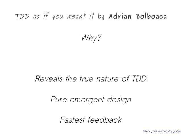 TDD as if you Meant It - Agile Cambridge 2017 Slide 3