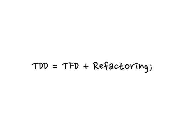 Refactoring To restructure software by applying a series of refactorings without changing its observable behavior. Martin ...
