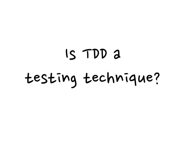 """""""To me the essence of the question I think about that, thinking about software design, I don't care about TDD or not TDD.""""..."""