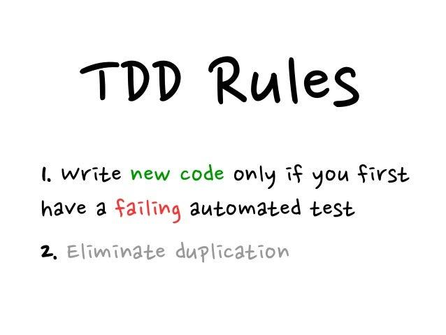 TDD = TFD + Refactoring;