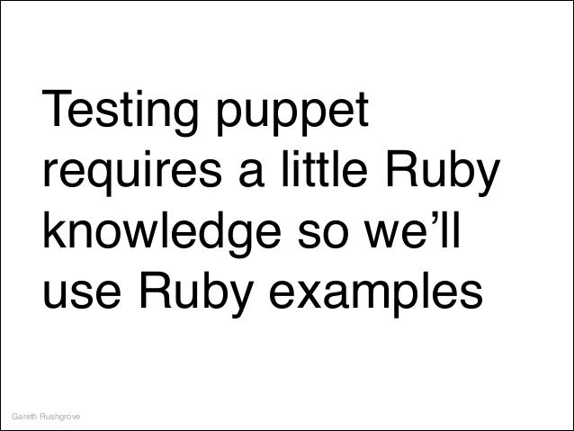Test Driven Development with Puppet