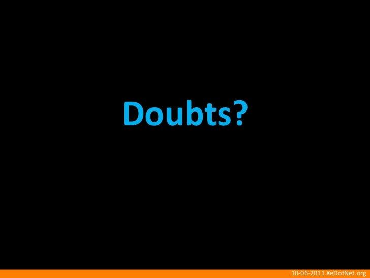 Doubts?<br />