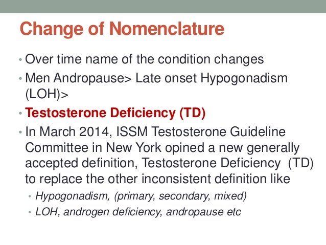 Testosterone Deficiency in Male by Dr Selim
