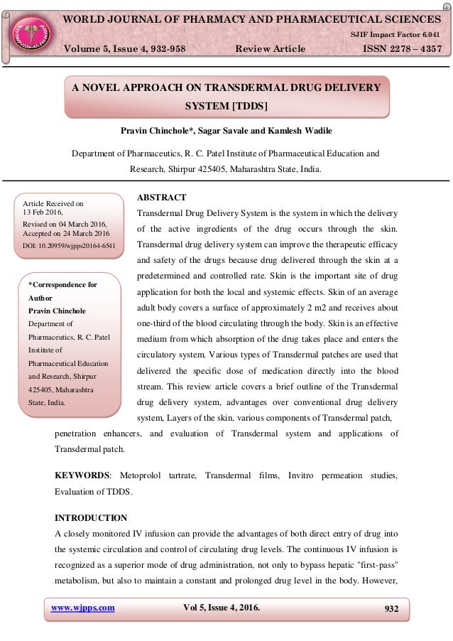 literature review of tdds