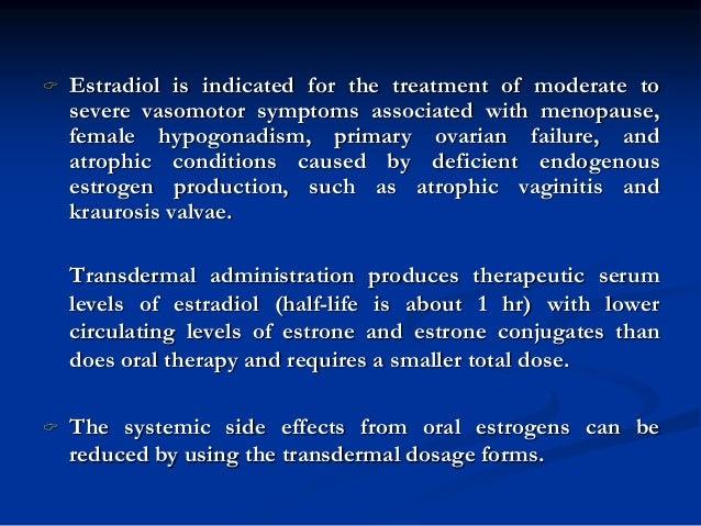 Estradiol halflife