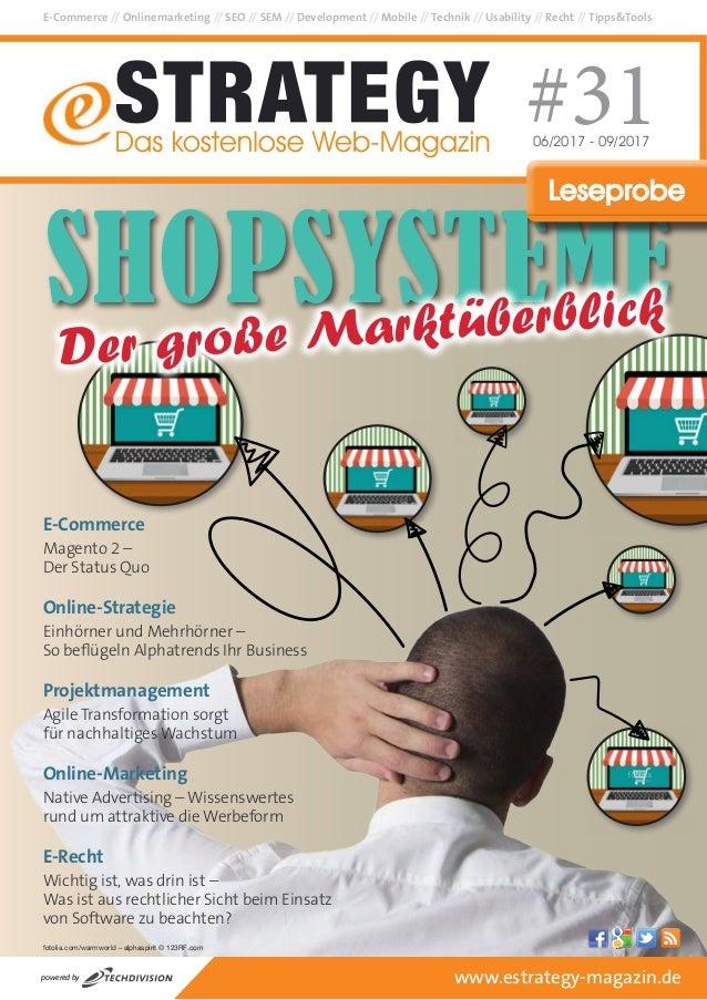 E-Commerce // Onlinemarketing // SEO // SEM // Development // Mobile // Technik // Usability // Recht // Tipps&Tools #3106...
