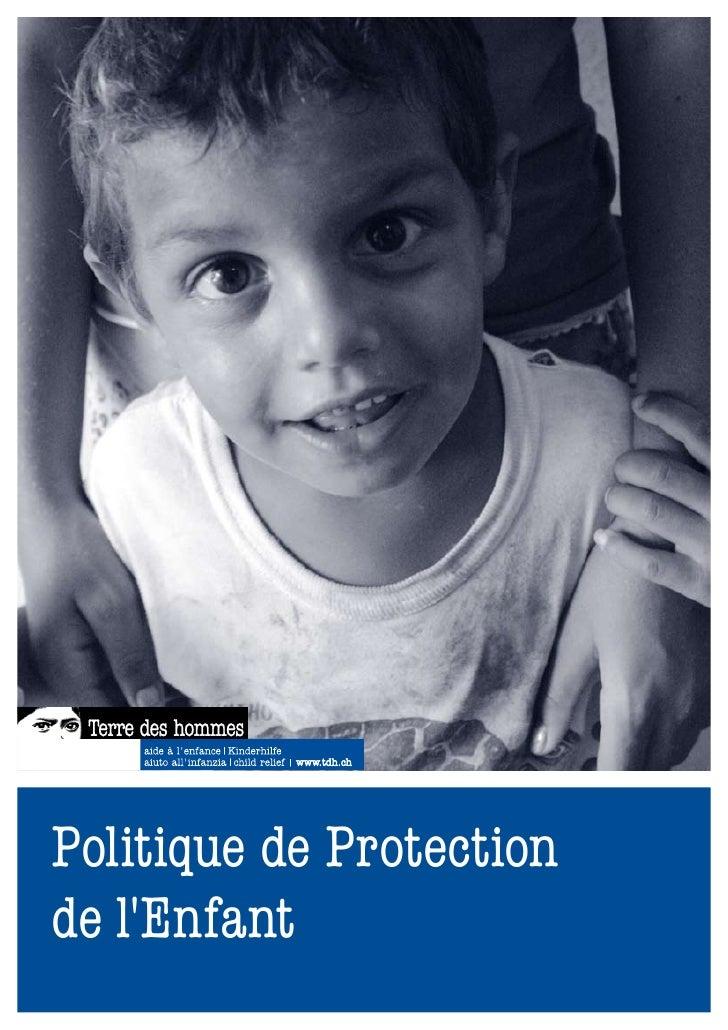 Tdh politique protection de l´enfant