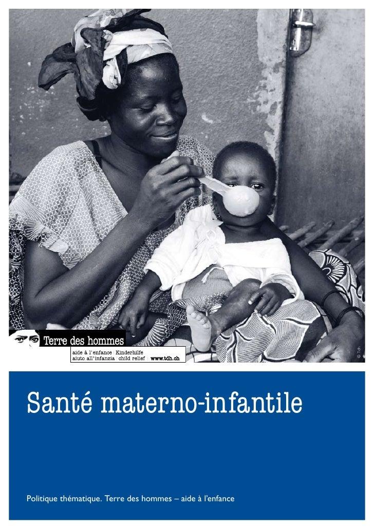 Santé materno-infantile - Politique thématique