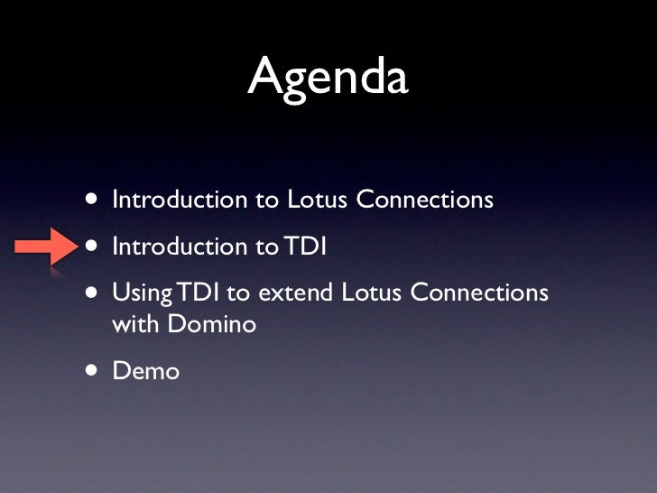 Extending Lotus Connections With Domino Using Tdi