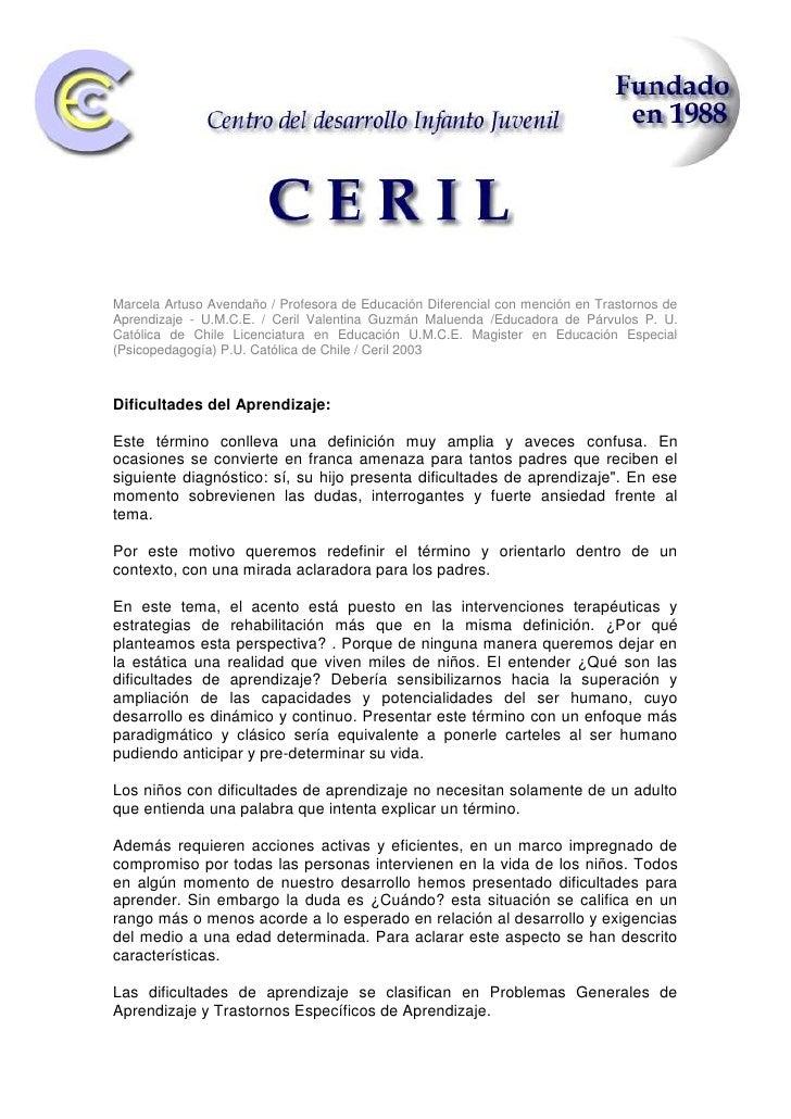 4734560-550545-913765-550545<br />107315175895<br />Marcela Artuso Avendaño / Profesora de Educación Diferencial con menci...