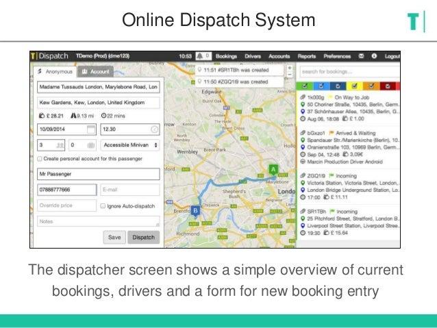 T Dispatch Taxi Dispatch System