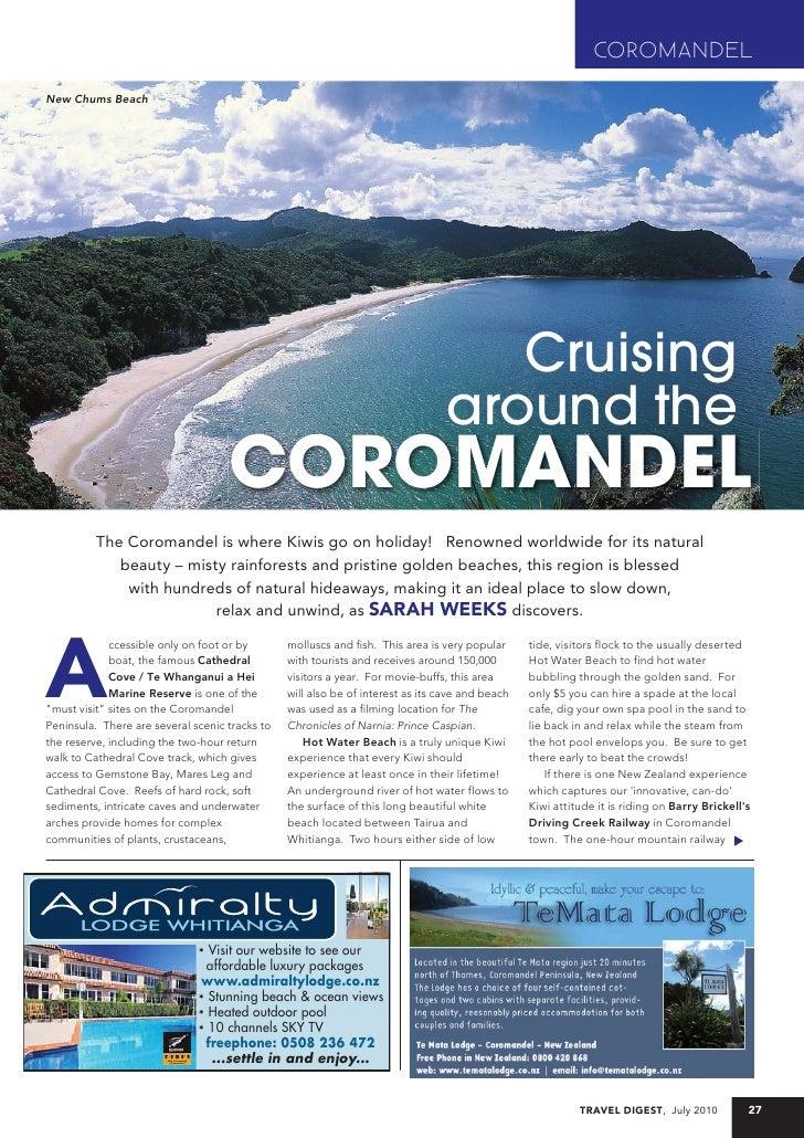 Coromandel - July 2010, Travel Digest
