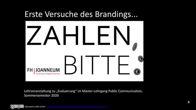 """Erste Versuche des Brandings... Lehrveranstaltung zu """"Webtolls"""" im Master-Lehrgang Medienkompetenz / Digital Literacy, Som..."""