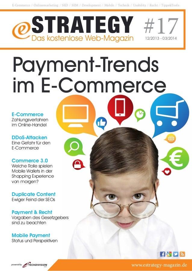 E-Commerce // Onlinemarketing // SEO // SEM // Development // Mobile // Technik // Usability // Recht // Tipps&Tools  #17 ...