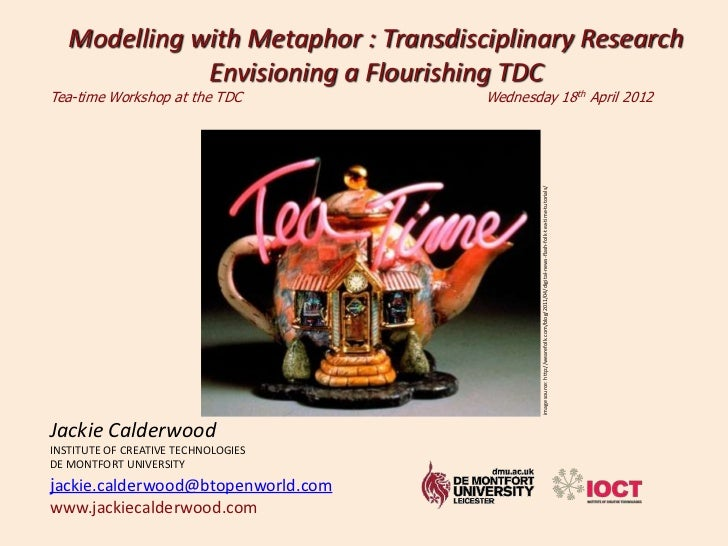 Modelling with Metaphor : Transdisciplinary Research              Envisioning a Flourishing TDCTea-time Workshop at the TD...