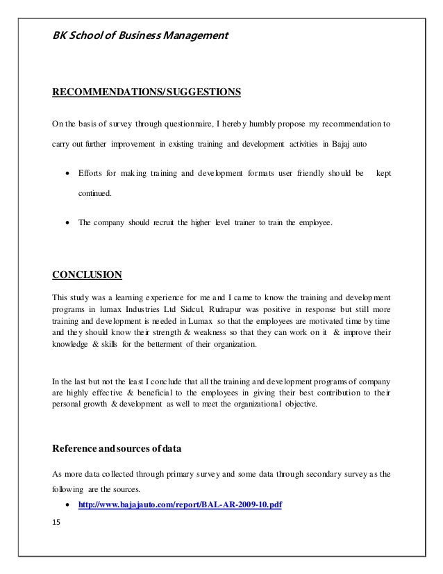 questionnair for brand preference in bajaj
