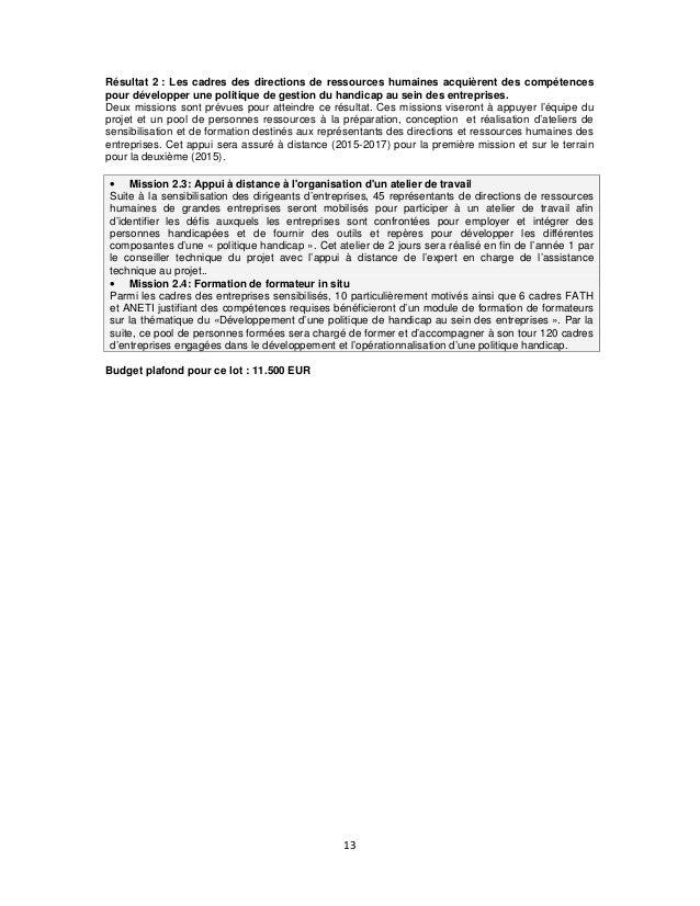 Résultat 2 : Les cadres des directions de ressources humaines acquièrent des compétences pour développer une politique de ...
