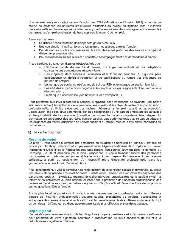 Une récente analyse stratégique sur l'emploi des PSH (Ministère de l'Emploi, 2012) a permis de mettre en évidence les barr...