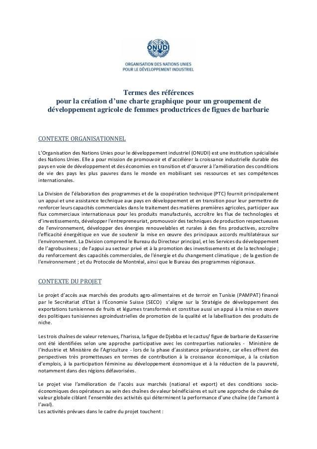 Termes des références pour la création d'une charte graphique pour un groupement de développement agricole de femmes produ...