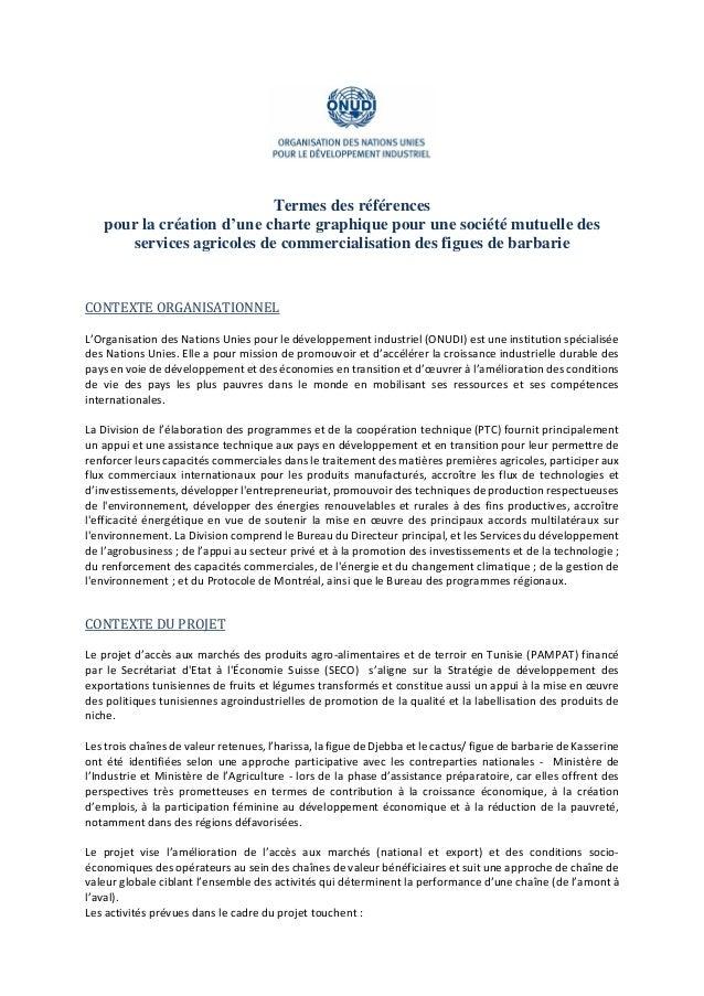 Termes des références pour la création d'une charte graphique pour une société mutuelle des services agricoles de commerci...