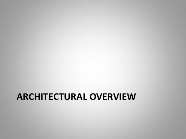Physical Architecture; 7.