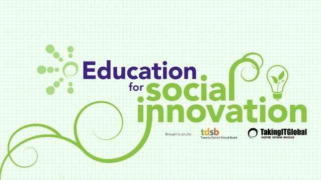 Why Education for Social Innovation?
