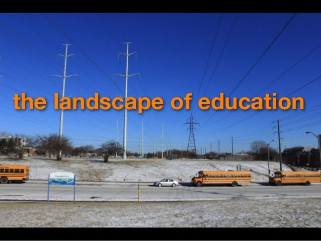 the landscape of education