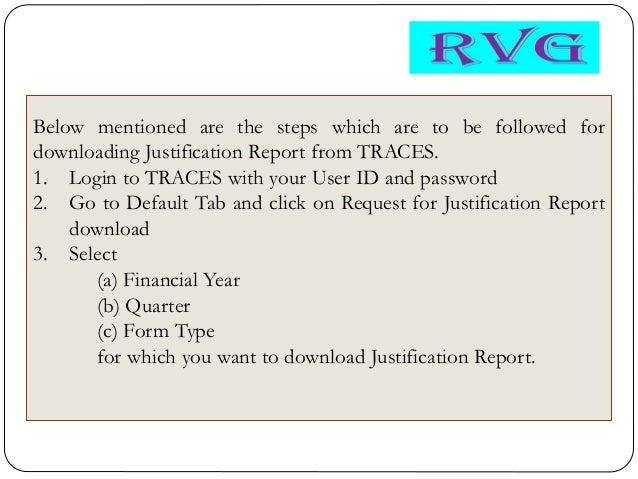 All About Justification Report Along With Rules Of Mapping Solved Wit
