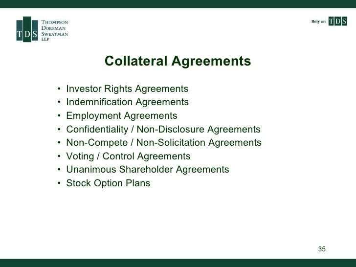 Private Equity And Venture Capital Investment Agreements