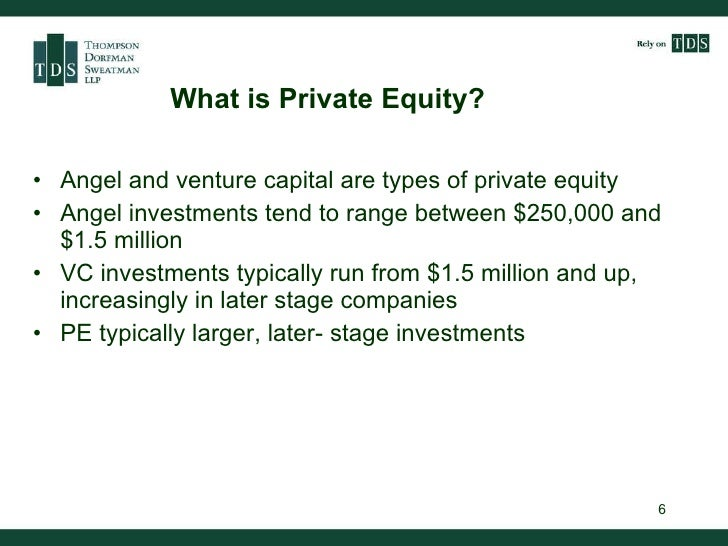 Private equity and venture capital as