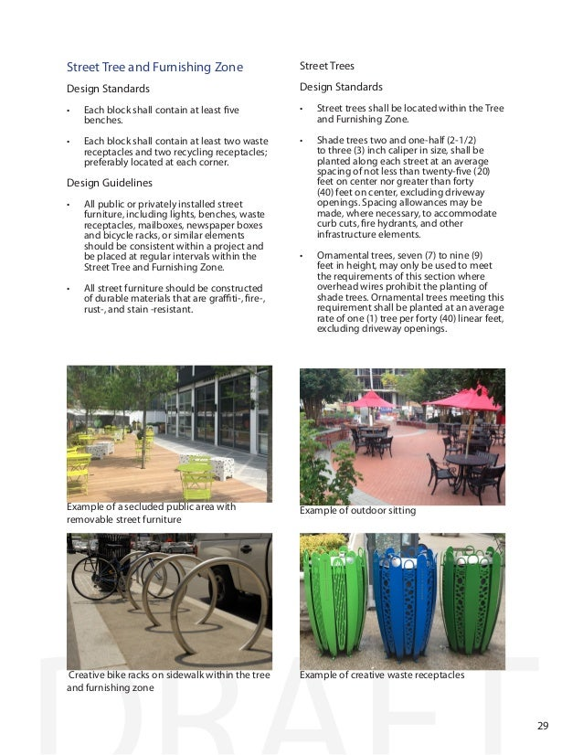 Furniture Design Guidelines fine street furniture design guidelines national association of