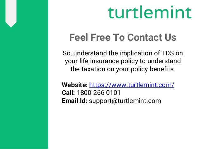 TDS on Life Insurance Policy, The Safe Investment Option ...