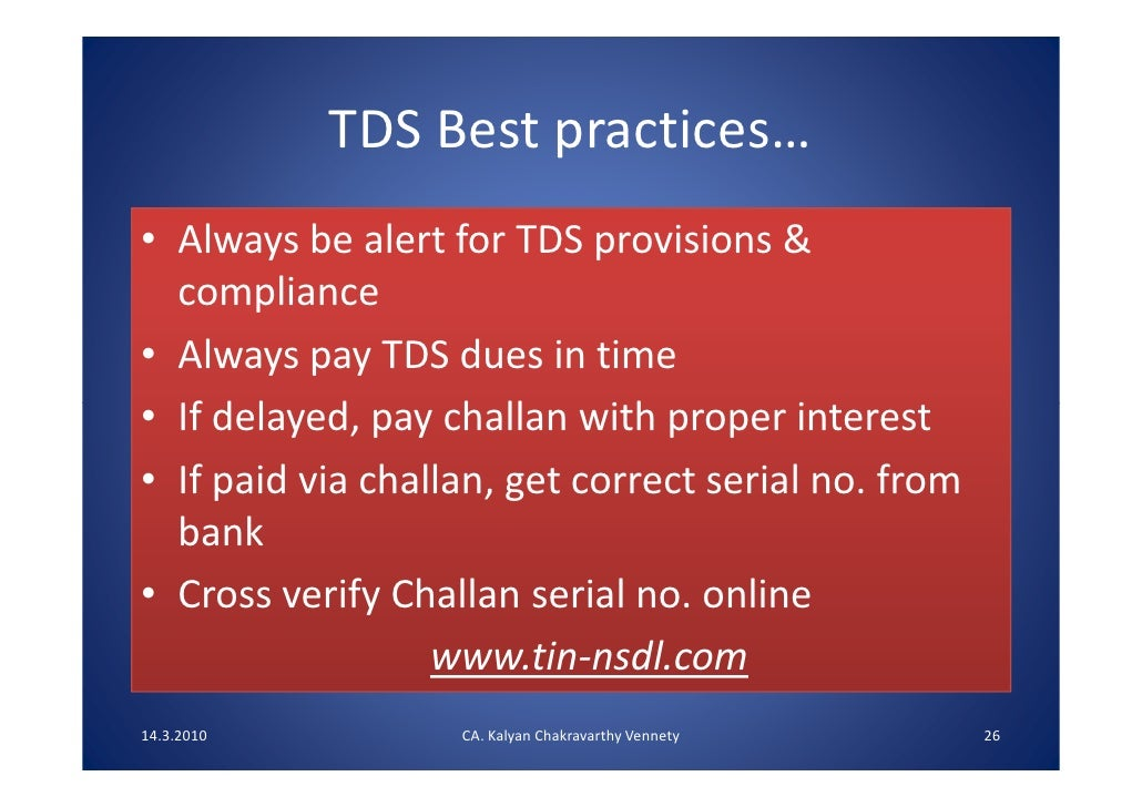 how to pay default tds interest online