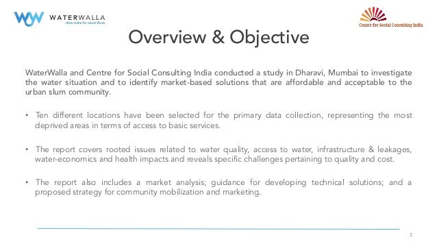 Water Quality & Solutions in Dharavi, Mumbai Slide 2