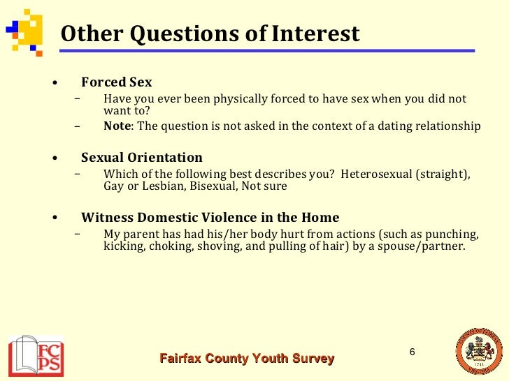 Sex and dating survey