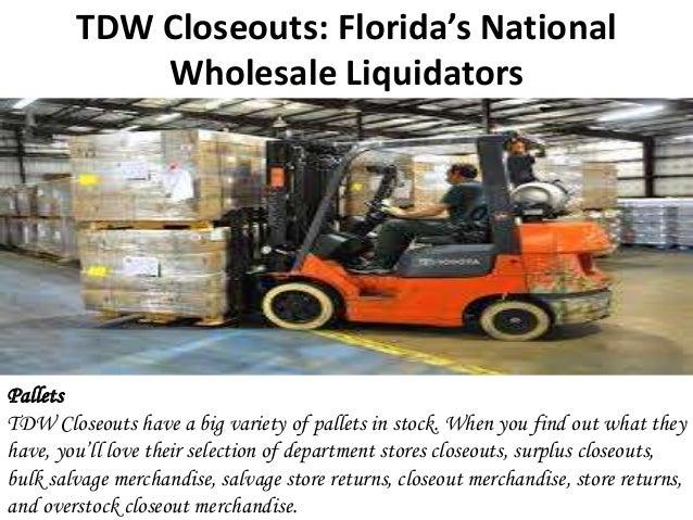 TDW Closeouts: Florida's National Wholesale Liquidators