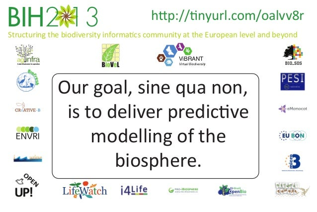 http://tinyurl.com/oalvv8r Structuring the biodiversity informatics community at the European level and beyond ViBRANT  Vi...
