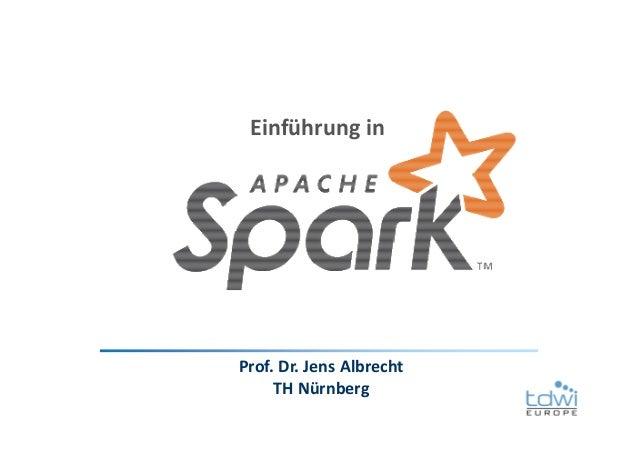 Prof. Dr. Jens Albrecht TH Nürnberg Einführung in