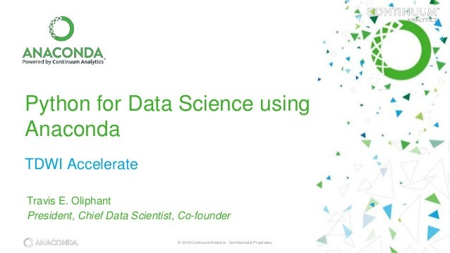 Python for Data Science with Anaconda