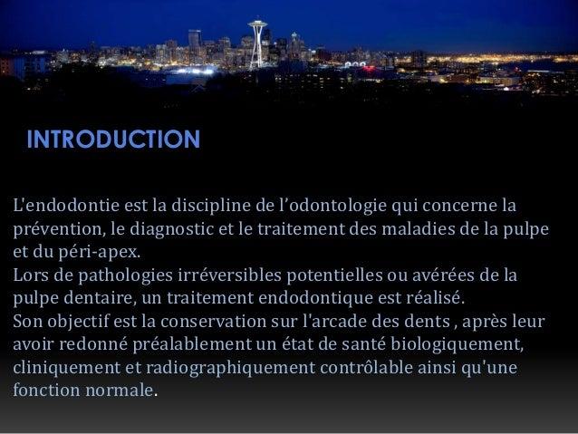 Traitement endodontique Slide 2