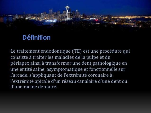 Traitement endodontique Slide 3