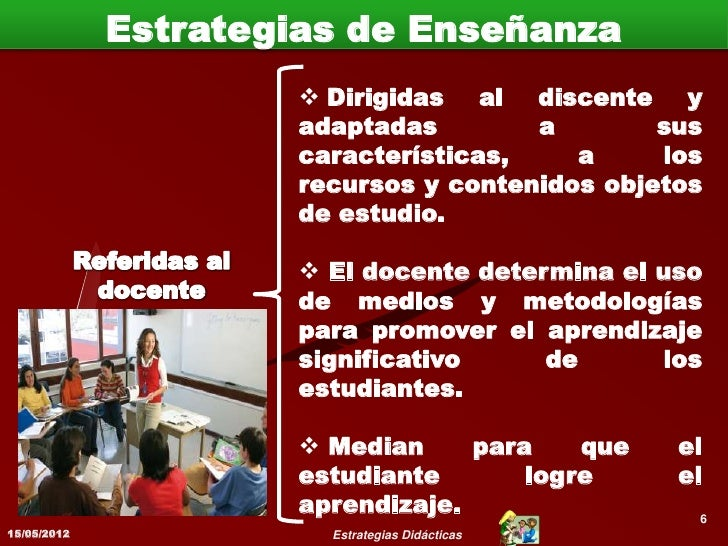 Ejemplos de Estrategias de Enseñanza                Preparar el contexto ambiente               del aprendizaje.         ...