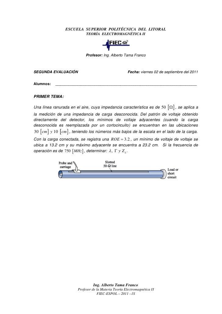 ESCUELA SUPERIOR POLIT CNICA DEL LITORAL                                  POLITÉCNICA                            TEORÍA EL...