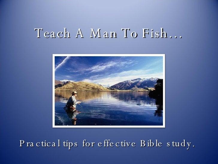 Teach a man to fish for Teach a man to fish bible verse